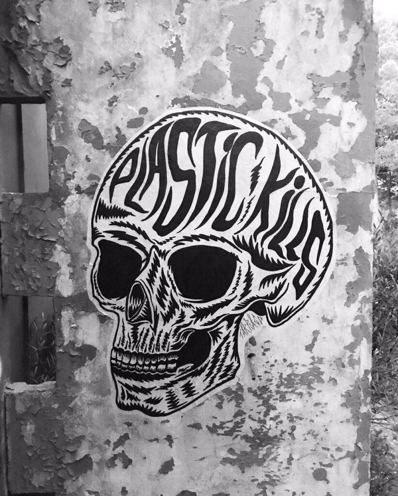 Paste Up Skull by Joan Tarrago